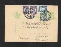 Romania Stationery 1931 Uprated To Germany - Ganzsachen