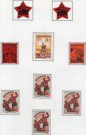 EMISSIONS  LOCALES - LOT DE 9 VIGNETTES  * - Spanish Civil War Labels