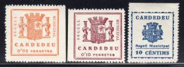 EMISSIONS  LOCALES - CARDEDEU - SEGELL MUNICIPAL * - Spanish Civil War Labels
