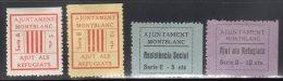 EMISSIONS  LOCALES - MONTBLANC - AJUT REFUGIATS + SOCIAL * - Spanish Civil War Labels