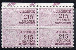 FISCAUX - Algérie -  4 Timbres **/* - Argelia (1924-1962)