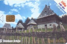 SERBIA PHONECARD(CHIP) OLD VILLAGE -100000pcs-4/01 -USED(1) - Montenegro