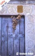 SERBIA PHONECARD(CHIP) CHRISTMAS SCENE -100000pcs-12/01 -USED(1)