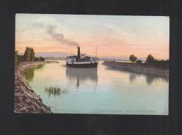 Schweiz AK Le Canal De La Broye Sortie Du Lac De Morat 1907 - FR Fribourg