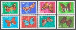 Hungary 1969 Ungarn Mi 2494-2501 Butterflies / Schmetterlinge **/MNH - Vlinders
