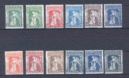 Greece 1917 (Vl 342-353) Provisional Government Of Venizelos MH (G0643) - Unused Stamps