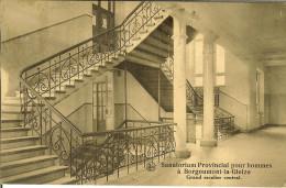 """CP De BORGOUMONT -LA- GLEIZE """" Sanatorium Provincial Pour Hommes , Grand Escalier Central """" - Stoumont"""