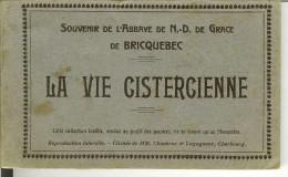 """Carnet De BRICQUEBEC """" Souvenir De L'Abbaye De N-D De Grace , La Vie Cistercienne """"  24 Cartes . - Bricquebec"""