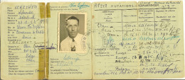 Carnet Attestation D'immatriculation CONGO BELGE Mr VEREYKEN Alphonse MOLENBEEK 1953 ( STANLEYVILLE ) - Documents Historiques