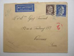 1943 , Franzose Bei Firma Berlin Buch ,  Lettre Avec Censuree , 2 Scan, French Prisonner - Marcophilie (Lettres)