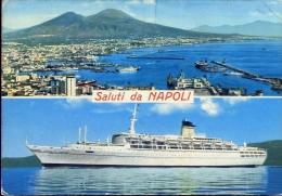 Saluti Da Napoli - Guglielmo Marconi - 1974-1 - Formato Grande Viaggiata Mancante Di Affrancatura - Napoli (Naples)