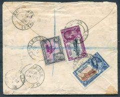 1935 KUT Tanga Registered Silver Jubilee Moshi Airmail Cover - Dickens Pharmacy Rochester Kent - Kenya, Uganda & Tanganyika