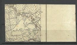 LETTLAND Latvia 1918 Michel 1 MNH In 8-block Printed On INVERTED/Kopfstehender MILITARY MAP - Lettland