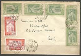 LETTRE DE BOUAKE / COTE D'IVOIRE 1921   DU N�  44 ET 45 PAPIER COUCHE TTB