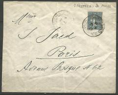 LETTRE DU LEVANT  1923 AVEC N° 34 - Levant (1885-1946)