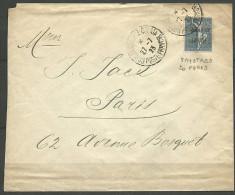 LETTRE DU LEVANT  1923 AVEC N� 34