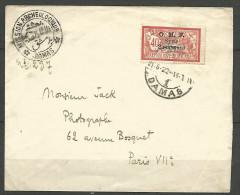 LETTRE DE SYRIE  1922 AVEC N� 68