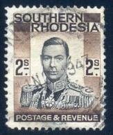 Southern Rhodesia 1937. 2sh Black And Brown, SACC 52, SG 50. - Südrhodesien (...-1964)