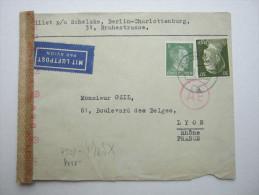 1943 , Franzose Bei Firma Schelske ,  Lettre Avec Censuree , 2 Scan, French Prisonner - Postmark Collection (Covers)