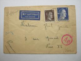 1943 , Franzose In Auländerlager Berlin,  Lettre Avec Censuree , 2 Scan, French Prisonner - Marcophilie (Lettres)