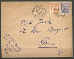 LETTRE DAP-CAU / D�INDOCHINE  1929 AVEC N� 127 ET 131 TTB