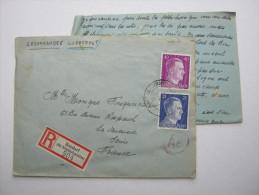1943 , Franzose Im Gemeinschaftslager BASDORF,  Lettre Avec Censuree , 2 Scan, French Prisonner - Guerre De 1939-45