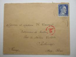 1944 , Franzose Im Werkheim  Dessau,  Lettre  Avec Censuree , 2 Scan, French Prisonner - Marcophilie (Lettres)