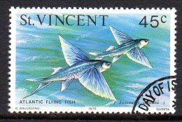 St Vincent 1975 Marine Life - 45c Value Used - St.Vincent (...-1979)