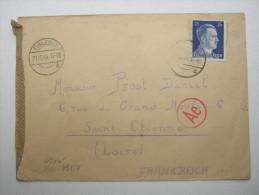 1943 , Franzose Im Gemeinschaftslager Eisleben,  Lettre  Avec Censuree , 2 Scan, French Prisonner - Marcophilie (Lettres)