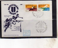 ITALIA REPUBBLICA ITALY REPUBLIC 6 9 1970 UNIVERSIADE DI TORINO 70 CERIMONIA DI CHIUSURA FDC - 6. 1946-.. Repubblica