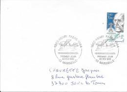 MARSEILLE 13  - 1ER JOUR D'EMISSION FRANCE  -  1986  -  HENRY FABRE  - TIMBRE N° 2398 AU TARIF SEUL SUR LETTRE - 1980-1989