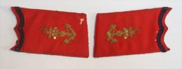 Paire Depattes De Col D´officier D´artillerie Coloniale - Ecussons Tissu