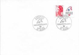 TIMBRE N° 2461  - 1ER JOUR D'EMISSION FRANCE  -  1987  -  PHILATEX  -  AU TARIF  - SEUL SUR LETTRE - FDC