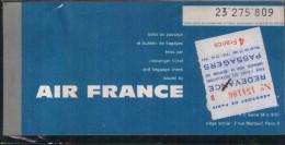AIR-FRANCE -Billet de passage et bulletin de bagages