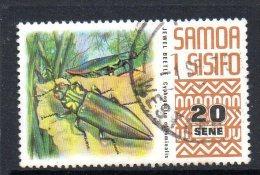 Samoa 1972-76 Definitives - 20s Beetle Used - Samoa