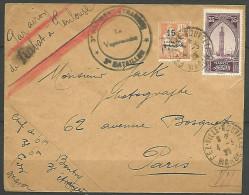 LETTRE DU 3�me REGIMENT ETRANGE /  MAROC OBL FEZ-VILLE NOUVELLE 1925 AVEC N� 42 ET 109 TB