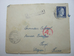 1944 , Franzose Im Gemeinschaftslager Kleinfurra,  Letttre  Avec Censuree , 2 Scan, French Prisonner - Marcophilie (Lettres)