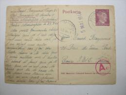 1944 , Franzose Im Lager (Baracque 13 ) Berlin,  Carte  Avec Censuree , 2 Scan, French Prisonner - Marcophilie (Lettres)