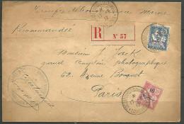 LETTRE RECOMMANDE POSTE AUX ARMEE DU   MAROC OBL 1912 AVEC N� 29 ET 32 TTB