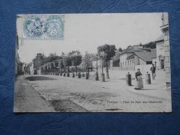 Pontoise  Place Du Parc Aux Charrettes - Animée - Ed. Bourdier - Circulée 1906 - L196 - Pontoise