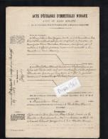 VP1559 SAINTE - MENEHOULD  - Acte Entre  BEAUDELAIRE & HERBILLON à CHALONS   Echange De Terres à LA NEUVILLE - AU - PONT - Manuscrits