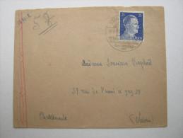1943 , Franzose Im Lager Stollberg,  Lcarte  Avec Censuree , 2 Scan, French Prisonner - Marcophilie (Lettres)