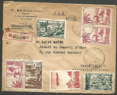 LETTRE RECOMMANDE DU   MAROC OBL  1947   TB