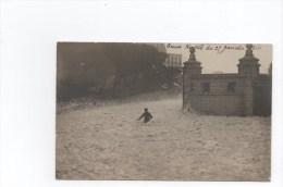 Biarritz. Ecume.Tempête Du 25 Janvier 1910 .Carte Photo Avec Texte En Rapport. UNIQUE. - Biarritz