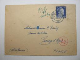 1943 , Franzose In Firma In Frankfurt,  Letttre  Avec Censuree , 2 Scan, French Prisonner - Postmark Collection (Covers)