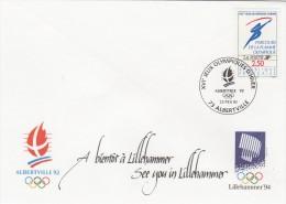 ALBERTVILLE 92 - SUPERBE ENVELOPPE AVEC TIMBRE  -PARCOURS DE LA FLAMME OLYMPIQUE- TAMPONNE 23 FEVRIER 92 - TOP !!! - Inverno1992: Albertville