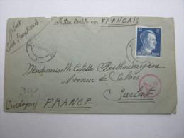 1943 , Franzose In Firma (Baracque)  Bernstorf,  Letttre  Avec Censuree , 2 Scan, French Prisonner - Marcophilie (Lettres)
