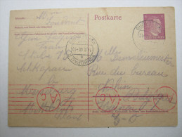 1944 , Franzose Im Gemeinschaftslager SCHKOPAU,  Carte  Avec Censuree , 2 Scan, French Prisonner - Marcophilie (Lettres)