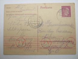 1944 , Franzose Im Gemeinschaftslager SCHKOPAU,  Carte  Avec Censuree , 2 Scan, French Prisonner - Postmark Collection (Covers)