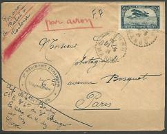 LETTRE  DU 3�me REGIMENT ETRANGER  LE VAGUEMESTRE /  MAROC OBL  1924 AVEC PA N� 3  TB